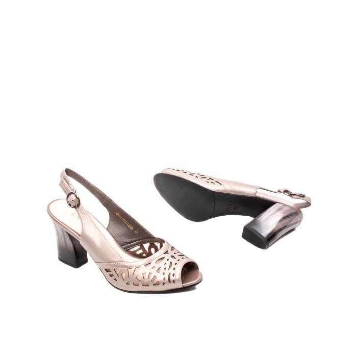 Sandale dama elegante, piele naturala, EP 4F811 SIL 3