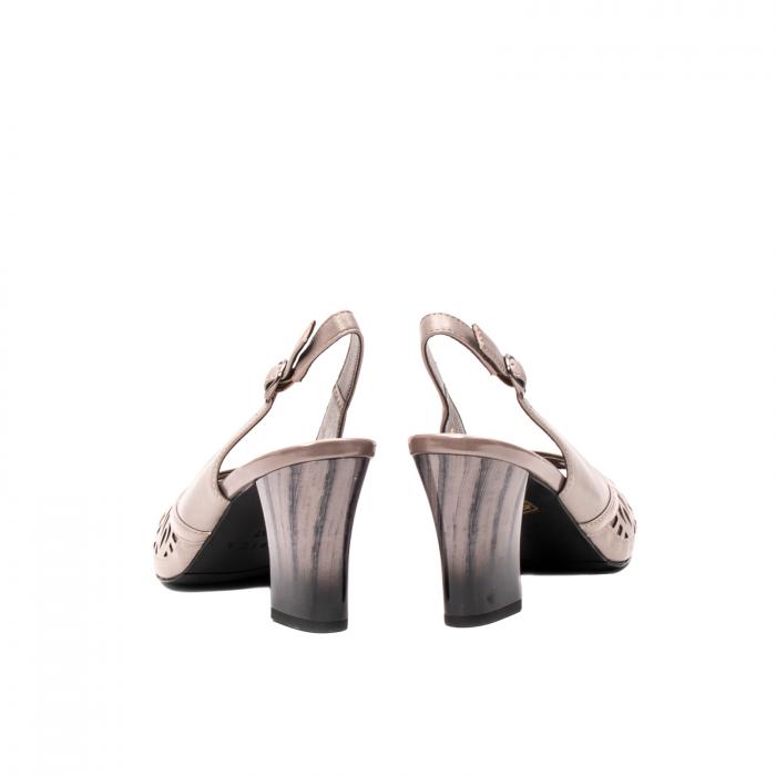 Sandale dama elegante, piele naturala, EP 4F811 SIL 6