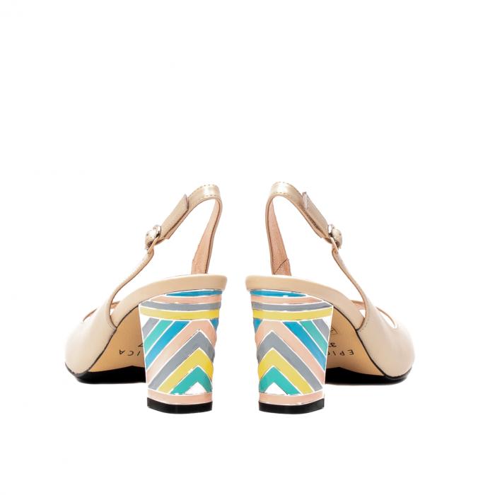 Sandale dama elegante, piele naturala, EP C679H 6