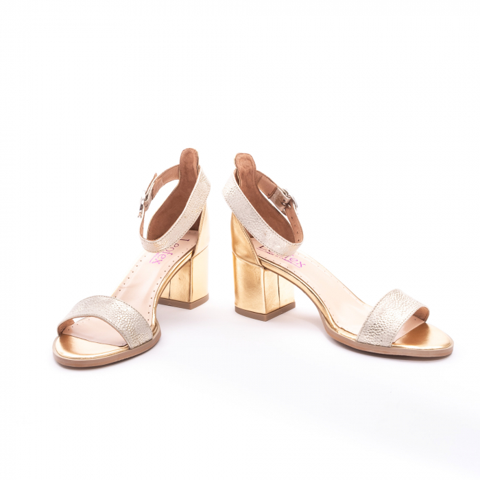 Sandale dama LFX  128 auriu box sidef 4