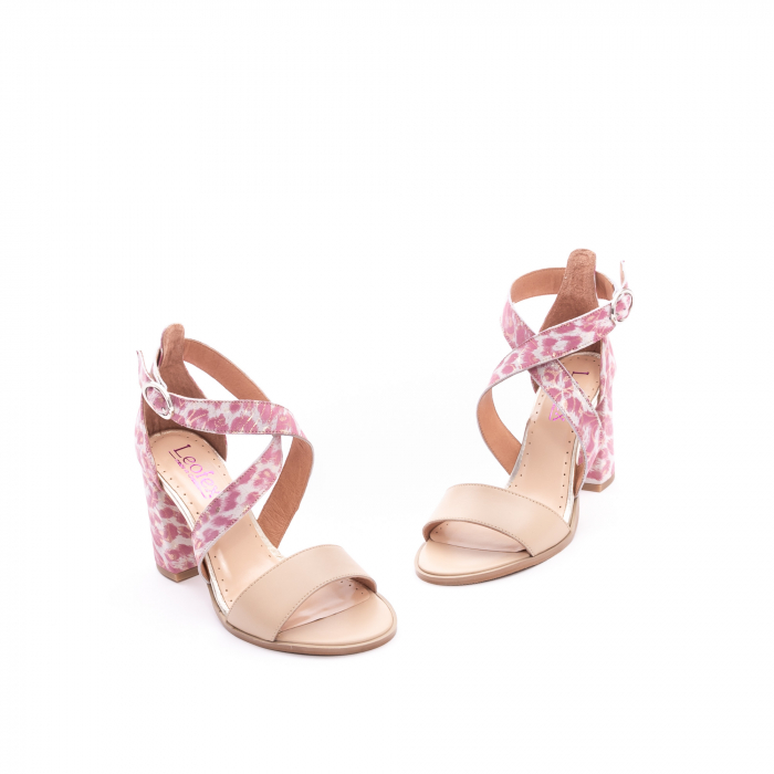 Sandale dama  LFX 139  nude roze 1