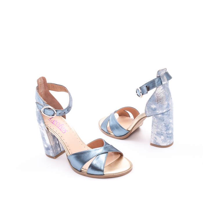Sandale dama  LFX 148 blue sidef 3