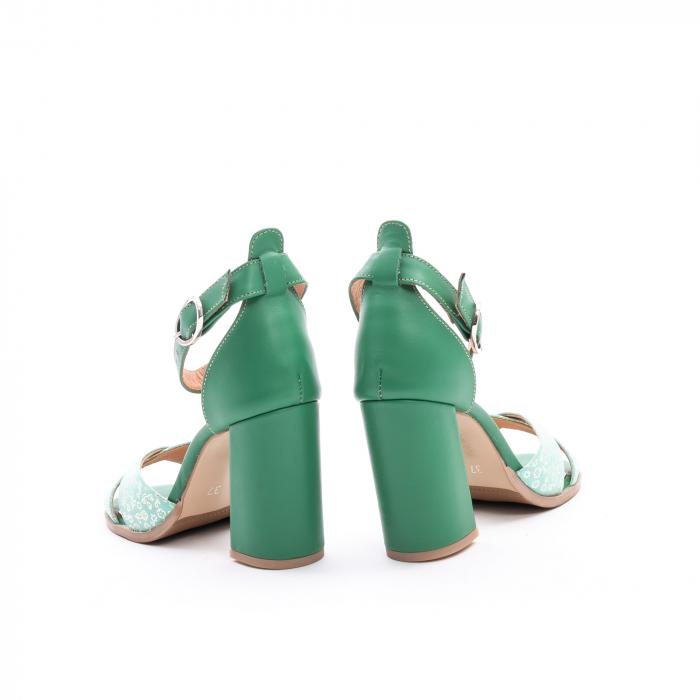 Sandale dama elegante piele naturala, Leofex 148, verde 6
