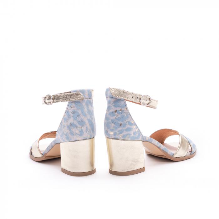 Sandale dama LFX 228 blue cu auriu 6
