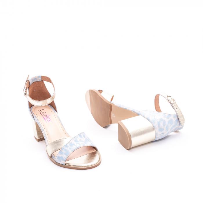 Sandale dama LFX 228 blue cu auriu 3