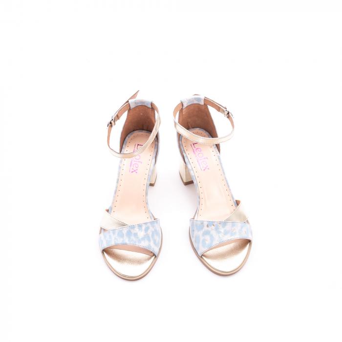 Sandale dama LFX 228 blue cu auriu 5