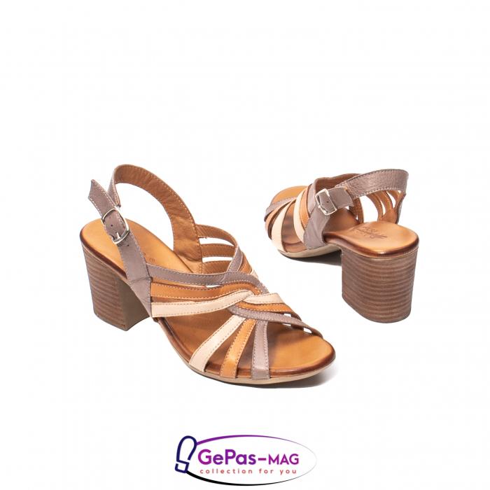 Sandale dama, piele naturala, 09030 H6 2