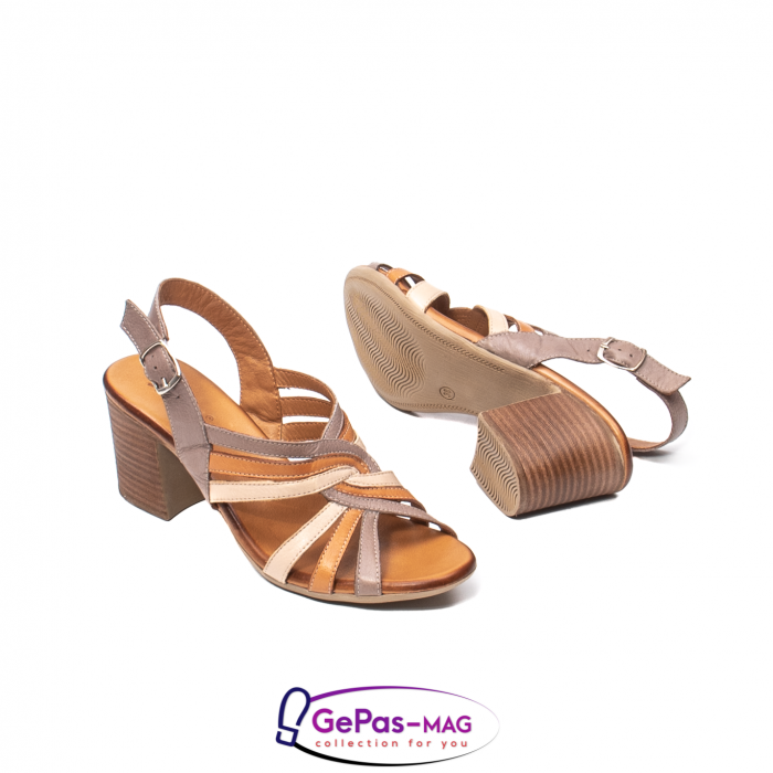 Sandale dama, piele naturala, 09030 H6 3