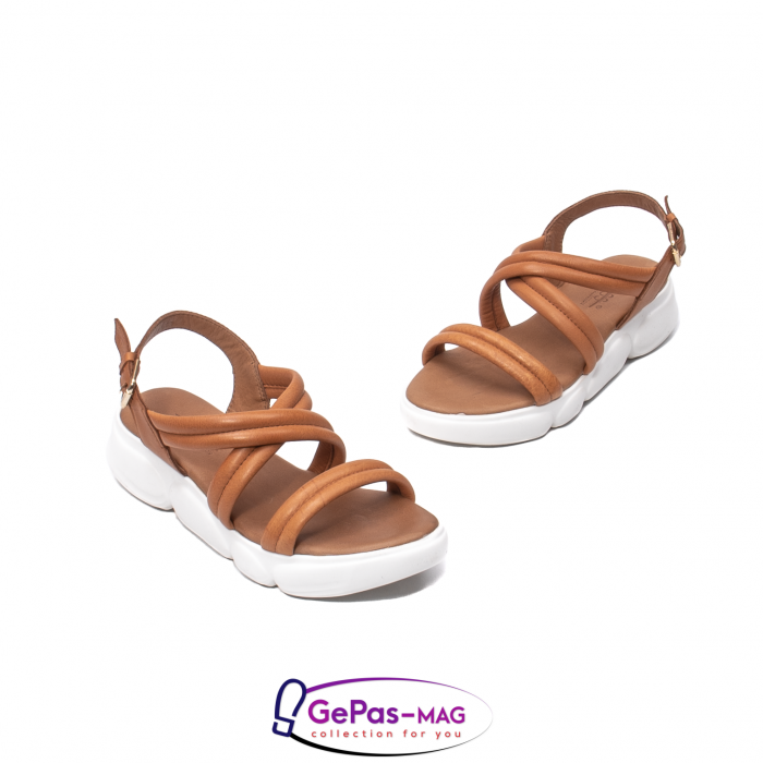 Sandale dama, piele naturala, L3MS-1083 coniac [1]