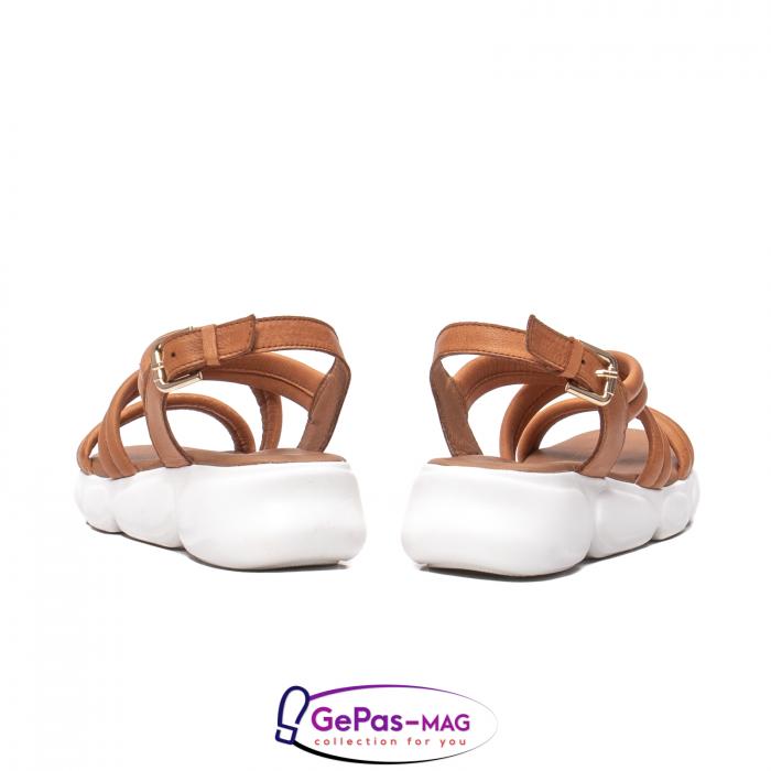 Sandale dama, piele naturala, L3MS-1083 coniac [6]