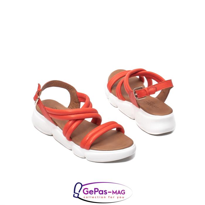Sandale dama, piele naturala, L3MS-1083 Corai [2]