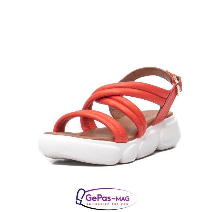Sandale dama, piele naturala, L3MS-1083 Corai [0]