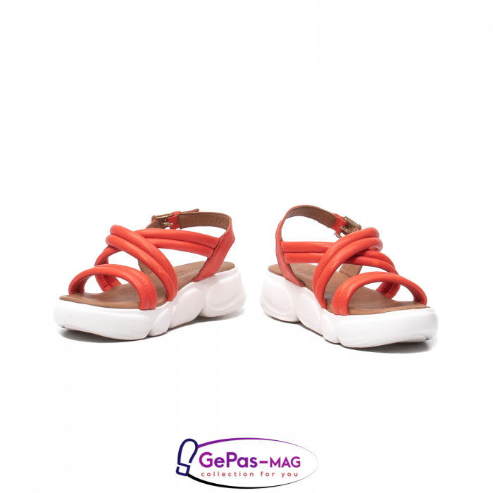 Sandale dama, piele naturala, L3MS-1083 Corai [4]