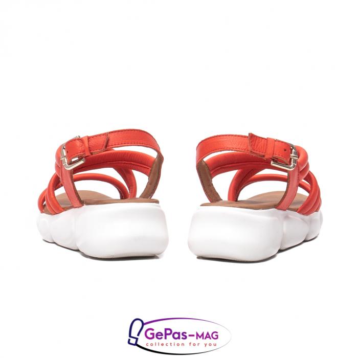 Sandale dama, piele naturala, L3MS-1083 Corai [6]