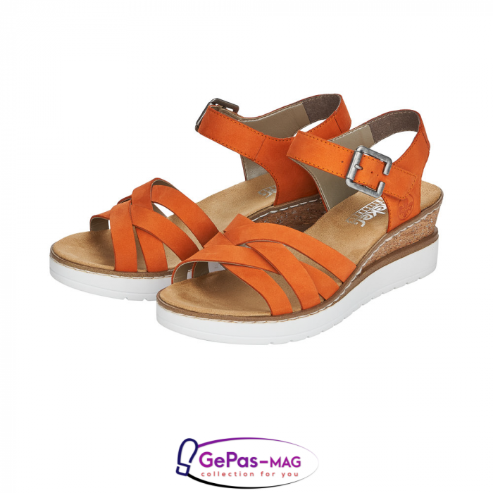 Sandale dama, piele naturala nubuc, V3863-38 6