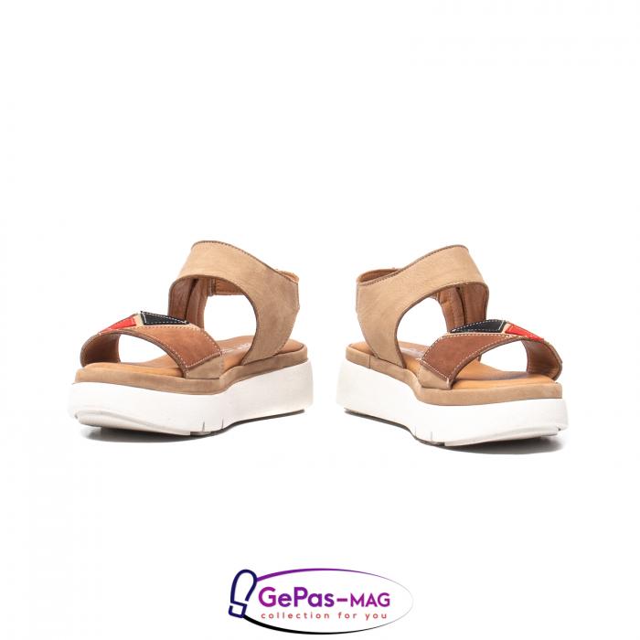 Sandale dama, piele naturala, O73046 bej 4