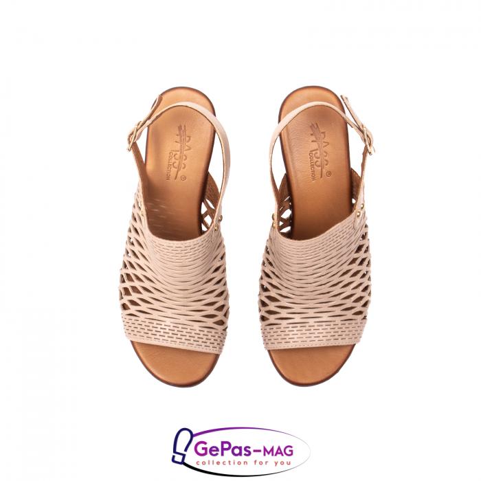 Sandale dama, piele naturala, O9030 03-N bej 5