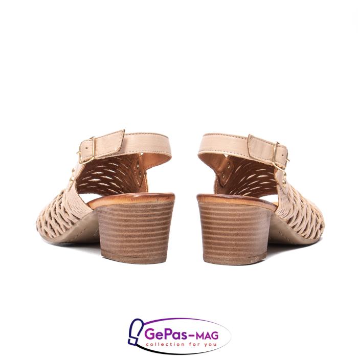 Sandale dama, piele naturala, O9030 03-N bej 6