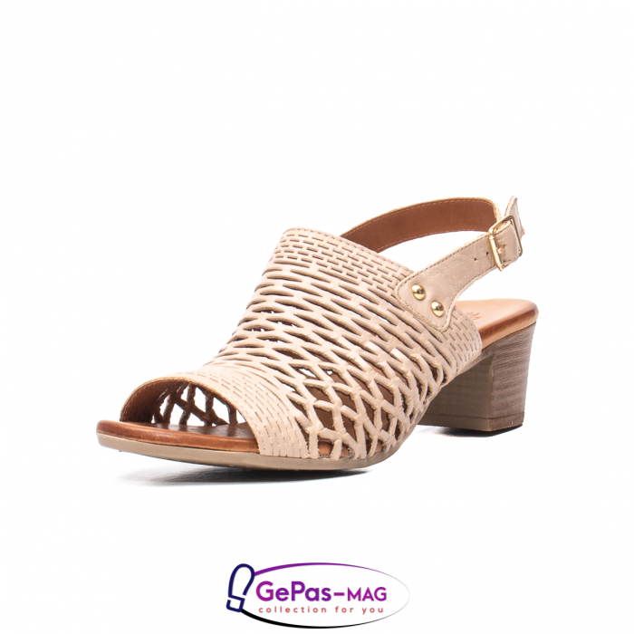 Sandale dama, piele naturala, O9030 03-N bej 0