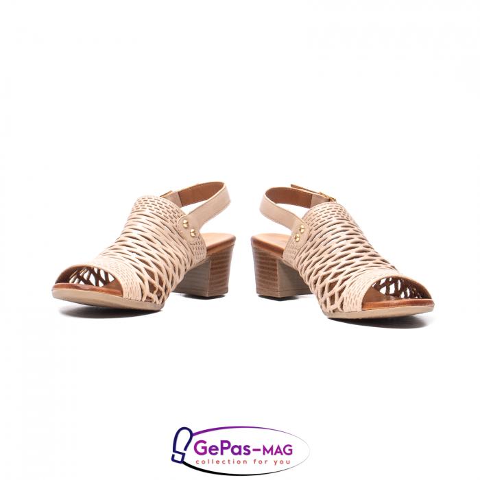 Sandale dama, piele naturala, O9030 03-N bej 4