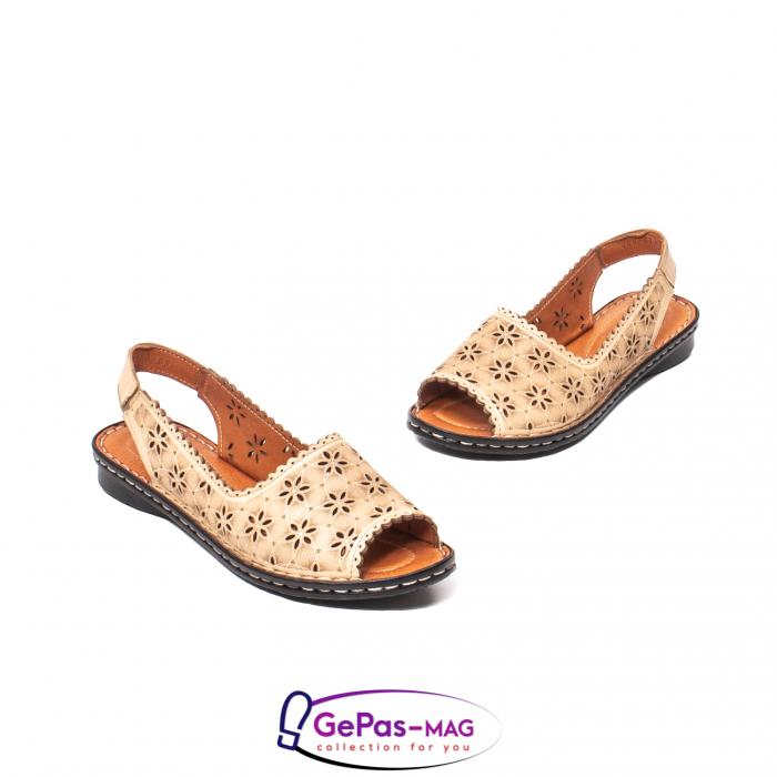 Sandale dama, piele naturala, O9409 bej 1