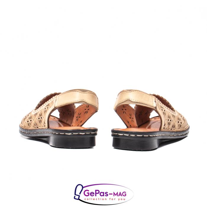 Sandale dama, piele naturala, O9409 bej 6