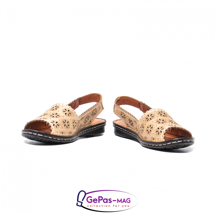 Sandale dama, piele naturala, O9409 bej 4