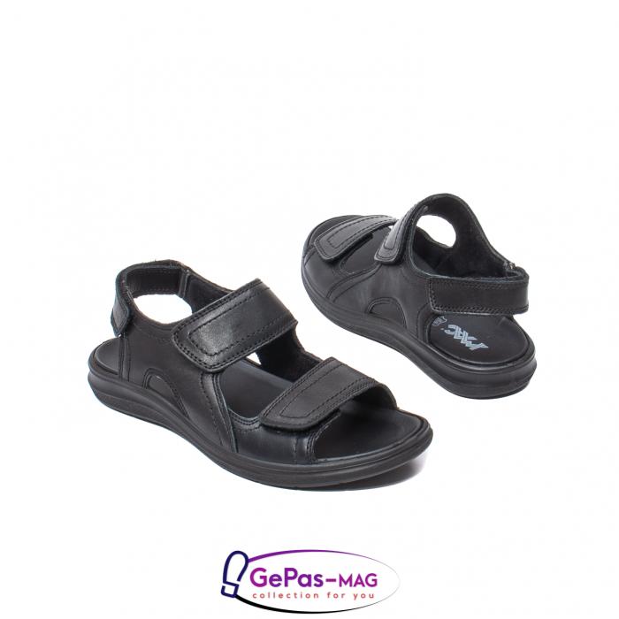 Sandale de barbat, piele naturala, IC702730 Negru 2