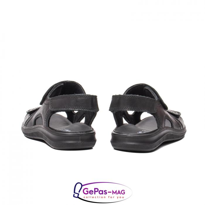 Sandale de barbat, piele naturala, IC702730 Negru 6