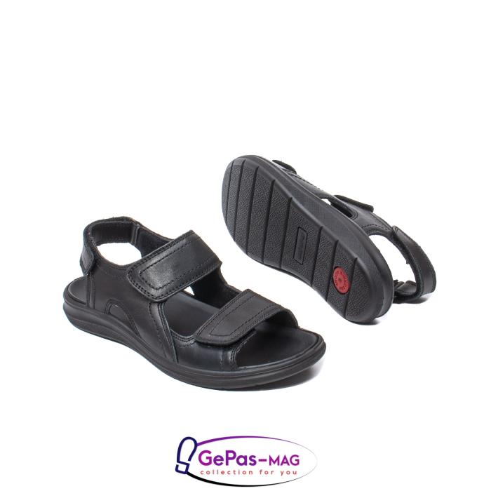 Sandale de barbat, piele naturala, IC702730 Negru 3