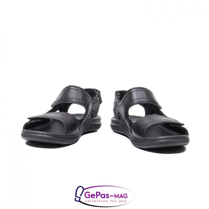 Sandale de barbat, piele naturala, IC702730 Negru 4