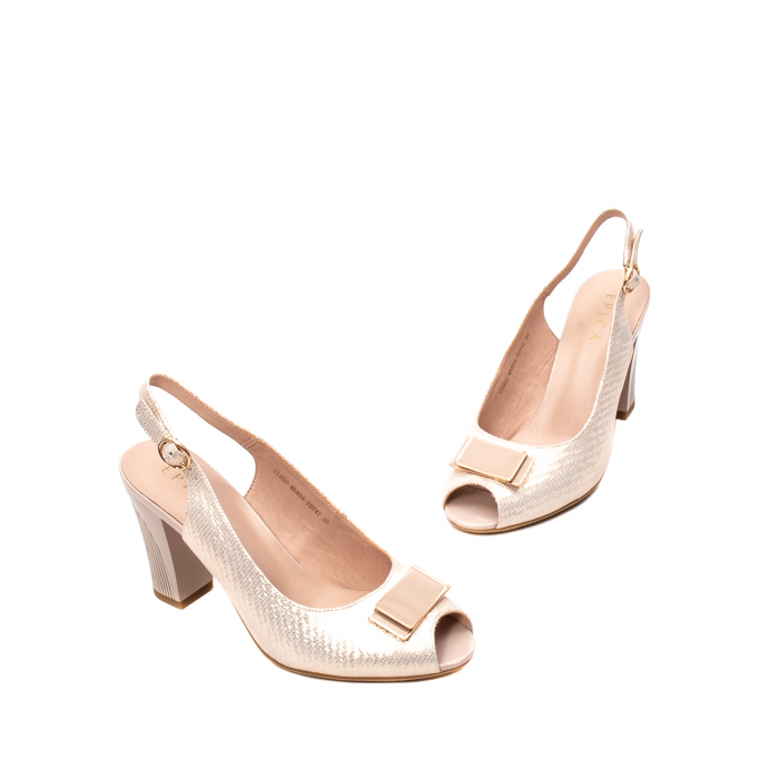 Sandale dama elegante, piele naturala, EP Y074T 1