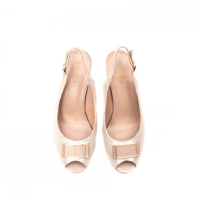 Sandale dama elegante, piele naturala, EP Y074T 5