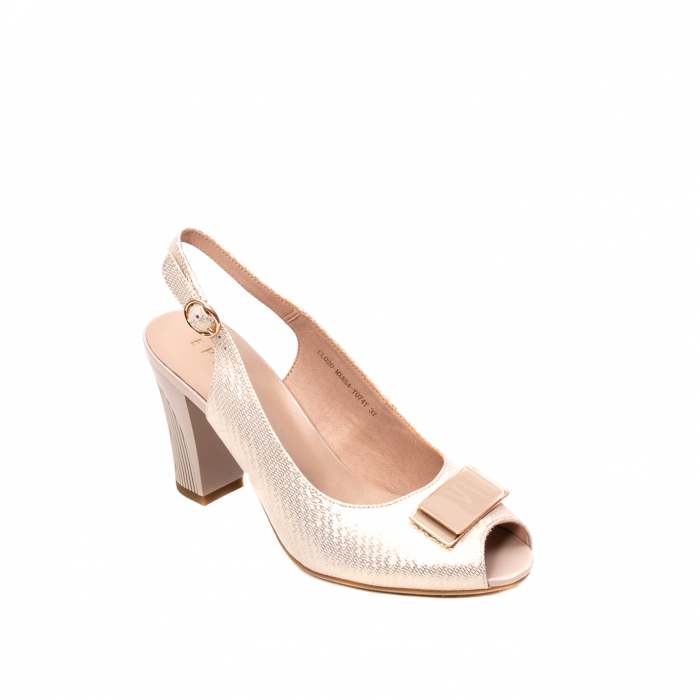 Sandale dama elegante, piele naturala, EP Y074T 0