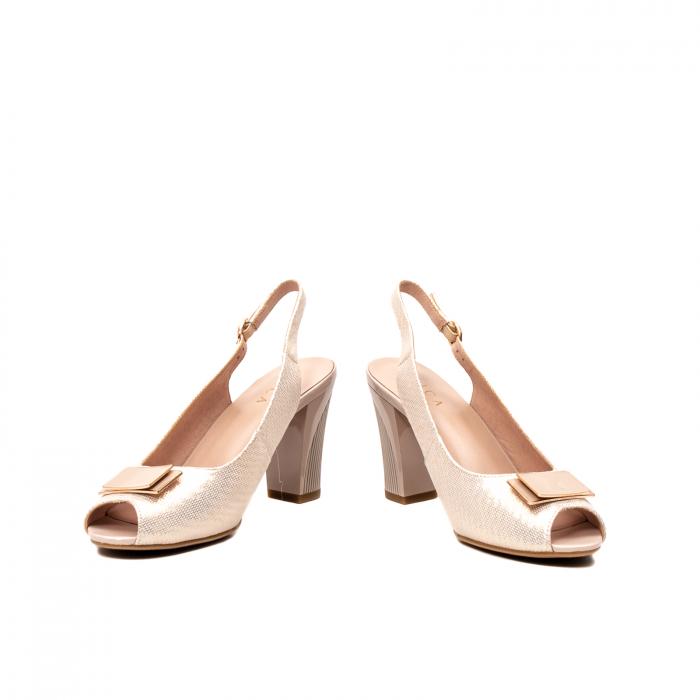 Sandale dama elegante, piele naturala, EP Y074T 4