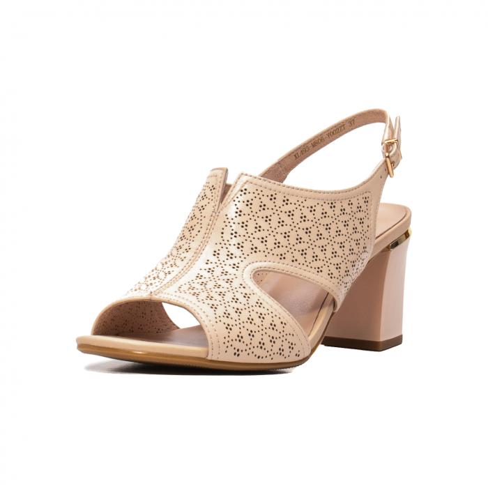 Sandale elegante dama, piele naturala, JIXL493 [0]