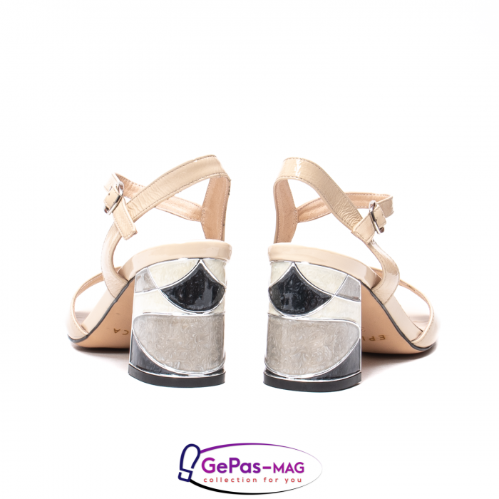 Sandale elegante dama, piele naturala naplac, B218J426-6312 [6]
