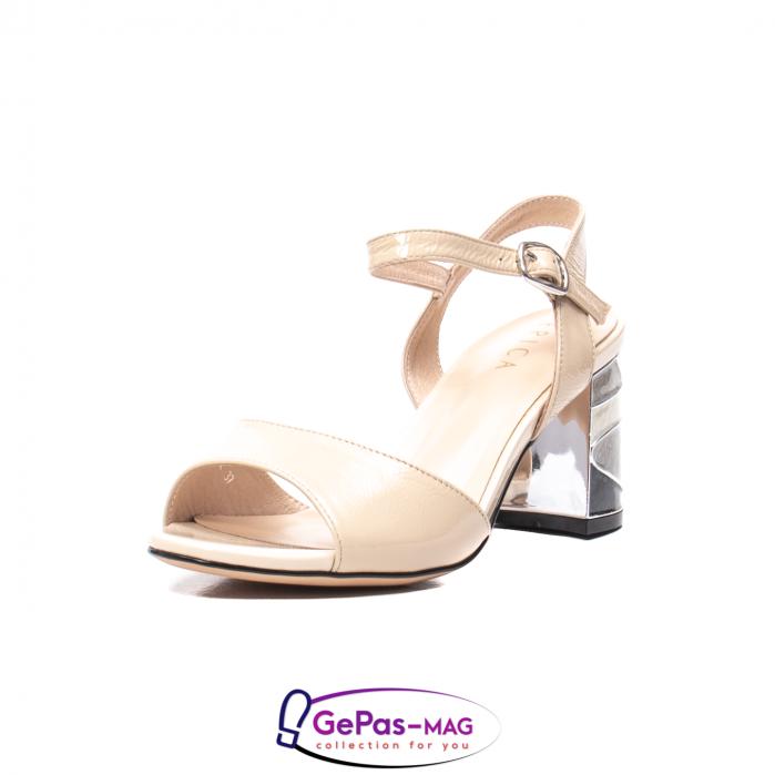 Sandale elegante dama, piele naturala naplac, B218J426-6312 [0]