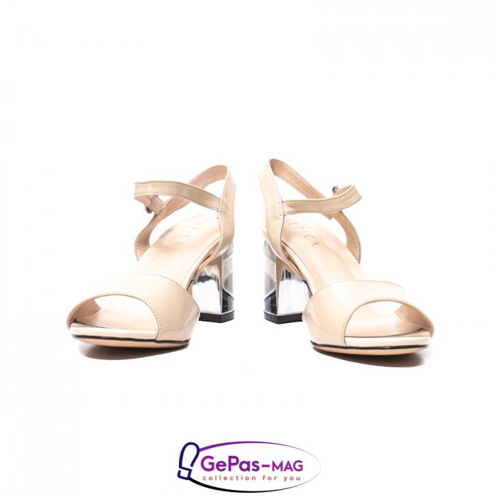Sandale elegante dama, piele naturala naplac, B218J426-6312 [4]