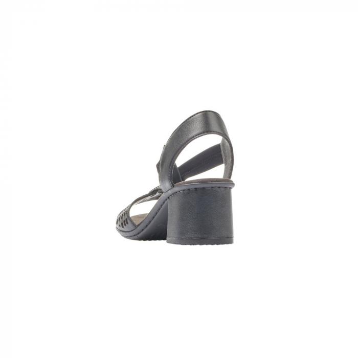 Sandale dama elegante, piele naturala, RIK 64675-00 2