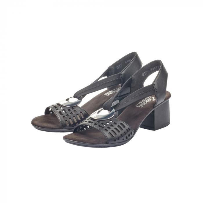 Sandale dama elegante, piele naturala, RIK 64675-00 6