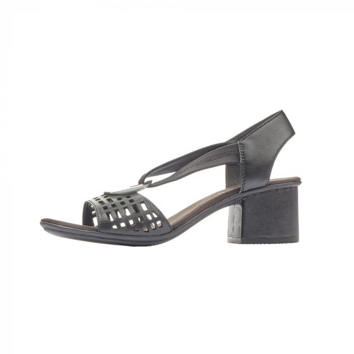 Sandale dama elegante, piele naturala, RIK 64675-00 5