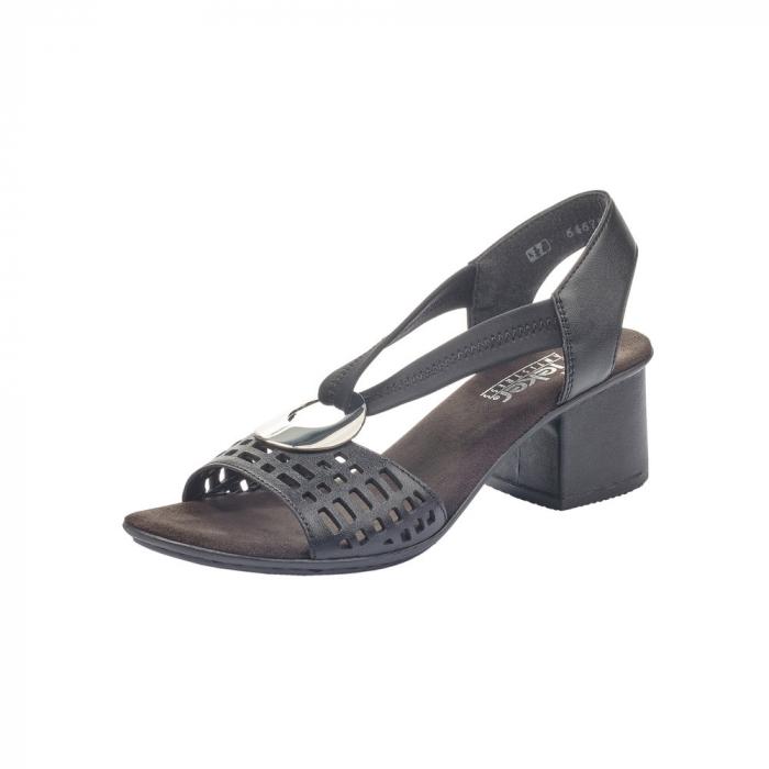 Sandale dama elegante, piele naturala, RIK 64675-00 0