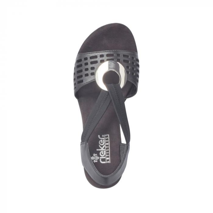 Sandale dama elegante, piele naturala, RIK 64675-00 1