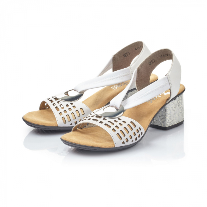 Sandale dama elegante, piele naturala, RIK 64675-80 3