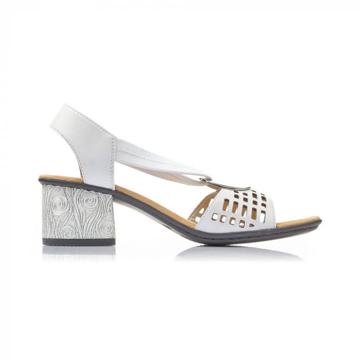 Sandale dama elegante, piele naturala, RIK 64675-80 6