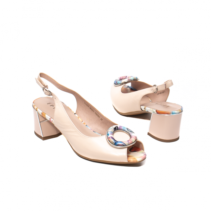 Sandale elegante dama, piele naturala, Y002BT [2]