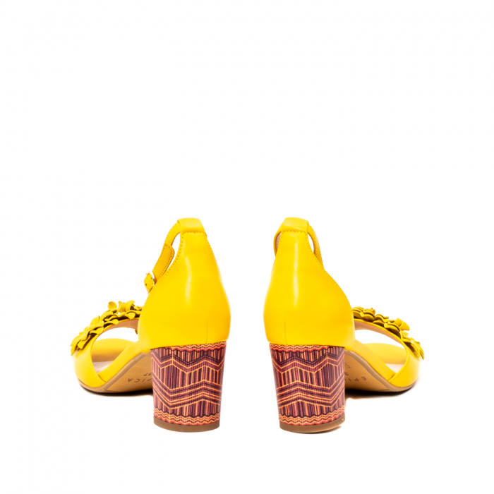 Sandale dama elegante, piele naturala, Y137T 6