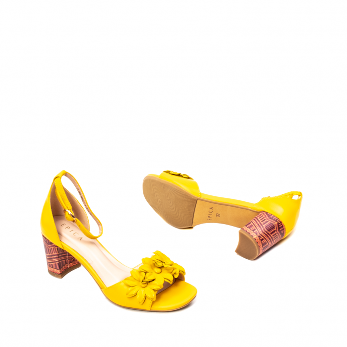 Sandale dama elegante, piele naturala, Y137T 3