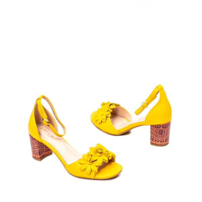 Sandale dama elegante, piele naturala, Y137T 2